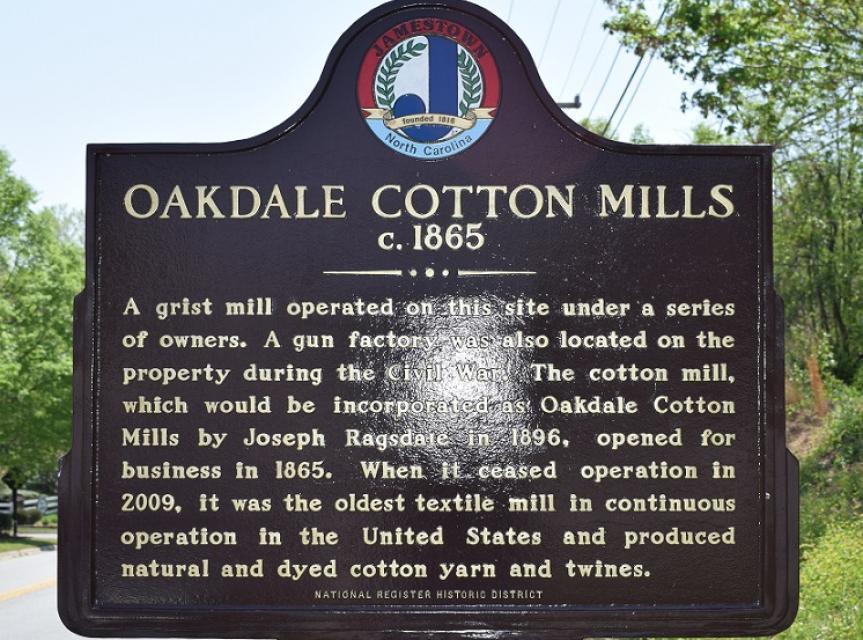 Oakdale Cotton Mills Historical - Jamestown - NC - US