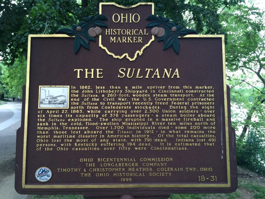 The Sultana - Newport - KY - US - Historical Marker Project